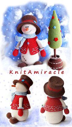 Kevin the Snowman crochet pattern #christmastoys #amigurumi #amigurumisnowman #crochetchristmas