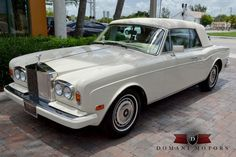 ***NEW ARRIVAL*** Domani Motor Cars is excited to announce the arrival of this THREE OWNER, 1990 Rolls-Royce Corniche III with the coachwork done by Mulliner Park Ward. This classic is finished in the ever so popular, Magnolia over Magnolia Hides with. Rolls Royce Corniche, Best Classic Cars, Mustang Cars, Pontiac Gto, Going Home, New Tricks, Fire Trucks, Corvette, Muscle Cars