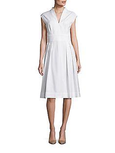 Escada Cotton Cap Sleeve Dress
