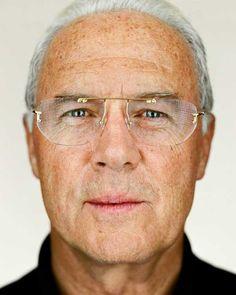 Franz Beckenbauer by Martin Schoeller Martin Schoeller, Sport Icon, Close Up Portraits, Soccer Players, Football Soccer, Celebrity Portraits, Isle Of Man, Celebs, Celebrities