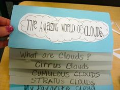 first grade clouds - i would have my kids do their own research writing for third grade The Effective Pictures We Offer You About Montessori Activities A quality picture can tell you many things. Kindergarten Science, Elementary Science, Science Classroom, Teaching Science, Science Education, Classroom Ideas, Teaching Ideas, Future Classroom, Teaching Resources