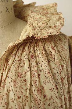 Dressing gown ca. American cotton Metropolitan Museum 1819
