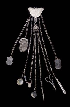 A cut steel chatelaine English 19th century