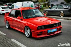 A red BMW is perfection.