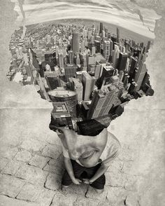 Where is my mind art works gallery by Andrea Costantini, 21 images - Art Limited Multiple Exposure Photography, Amazing Photography, Art Photography, Where Is My Mind, Montage Photo, Urban Landscape, Conte, Surreal Art, Photomontage