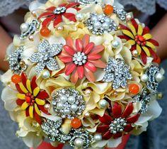 Deposit on a vintage sunshine jewelry bouquet  ready to by Noaki, $350.00