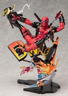 Estátua do Deadpool quebra a quarta parede com visual excepcional