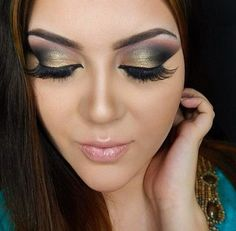 Edgy Gold Look