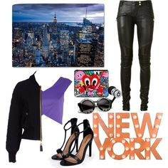 New York girl fashion by sudachikotarou on Polyvore featuring polyvore, fashion, style, River Island, Moschino, Balmain, Boohoo, Beats by Dr. Dre and Dot & Bo