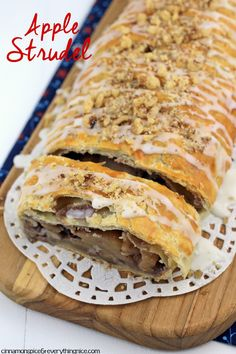 Easy Apple Strudel #easydesserts