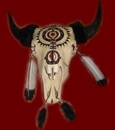 Hand Painted Cow Skulls and Buffalo