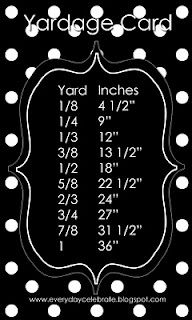 Sewing Tips: Yardage Card need to tatoo to my arm