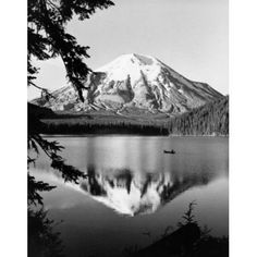 Reflection of a snow covered mountain in water Mount St Helens Washington USA Canvas Art - (18 x 24)