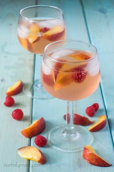 You'll love these Summer Peach Sangria's for your outdoor parties or just hanging out on hot, summer night!
