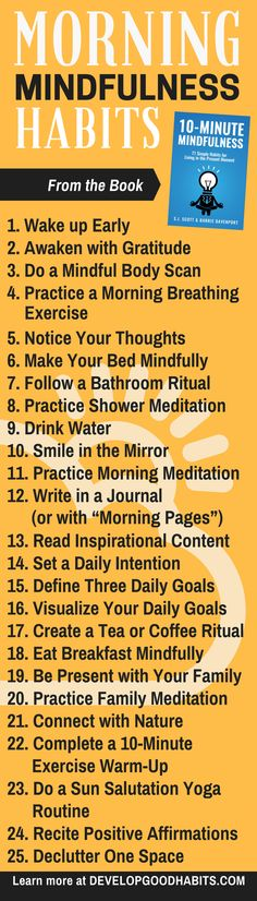 Morning Mindfulness excercises