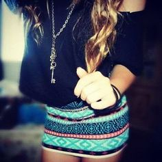 There are 5 tips to buy aztec, skirt, printed skirt, aztec, aztec skirt. Tribal Print Skirt, Tribal Skirts, Aztec Skirt, Aztec Prints, Aztec Dress, Look Fashion, Teen Fashion, Fashion Outfits, Womens Fashion