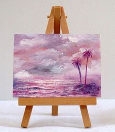 Valda Fitzpatrick Pink Ocean with Palms absolutearts.com