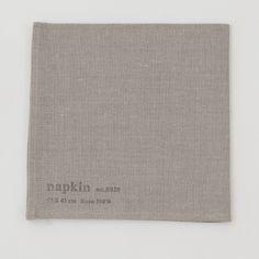 shop fog linen — Napkin: Natural With Stamp