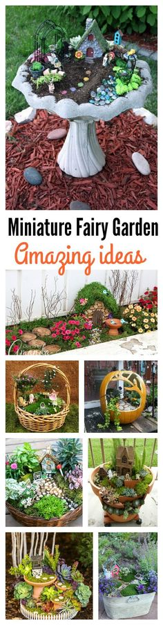8 Amazing Miniature Fairy Garden DIY Ideas http://amzn.to/2saZO4H
