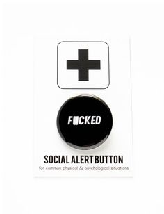 FCKED Button Social Alert Button by wordforwordfactory on Etsy