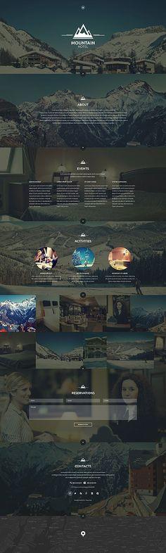 Template 53866 - Mountain Hotel  Responsive Website Template