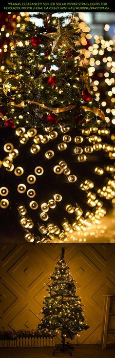 Weanas Clearance!!! 500 LED Solar Power String Lights for Indoor/Outdoor /Home Garden/Christmas/Wedding/Party,Warm White #tech #camera #racing #drone #clearance #outdoor #shopping #fpv #gadgets #products #kit #technology #parts #plans #decor