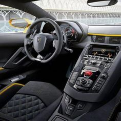 The Lamborghini Huracan was debuted at the 2014 Geneva Motor Show and went into production in the same year. The car Lamborghini's replacement to the Gallardo. The Huracan is available as a coupe and a spyder. Luxury Sports Cars, New Sports Cars, Super Sport Cars, Interior Lamborghini Aventador, Lamborghini Quotes, Lamborghini Concept, Lamborghini Dallas, Ferrari 458, Supercars