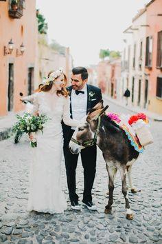 An inspirational destination wedding in San Miguel de Allende, Mexico.