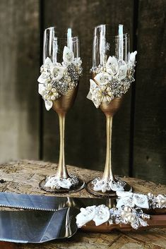 Wedding Glasses Décor Ideas For Your Big Day ❤ See more: http://www.weddingforward.com/wedding-glasses/ #weddingforward #bride #bridal #wedding