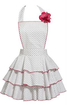 White Petite Dot {Vintage Apron}- idea