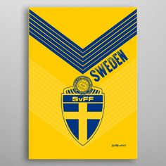 SWEDEN by Genaro Watla G | metal posters - Displate Wall Art Prints, Canvas Prints, Juventus Logo, Vintage Posters, Sweden, Canvas Art, Greeting Cards, Portable Battery, Spiral Notebooks