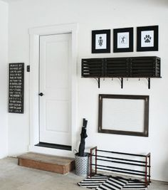 Home Renovation Garage 27 garage storage ideas to save your sanity this fall - Is your garage a total mess? Here are 29 tips to declutter your garage this fall. For more garage organization ideas and storage tips, go to Domino. Garage Storage Shelves, Laundry Room Shelves, Diy Storage, Storage Room, Small Shelves, Laundry Rooms, Storage Ideas For Garage, Small Garage Organization, Coat Storage