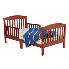 Dream On Me Mission Style Toddler Bed in Cherry - - Toddler Beds - Nursery Furniture - Baby & Kids' Furniture - Furniture