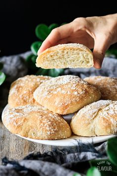 How to Make Chewy Ciabatta Rolls: these homemade rolls will make any sandwich taste amazing! This rustic Italian bread is crisp outside and soft inside, making it super tempting and ultra delicious. Rustic Italian Bread, Rustic Bread, Cibatta Bread Recipe, Ciabatta Roll, Homemade Ciabatta Bread, Homemade Breads, Sandwiches, Homemade Rolls, Gourmet