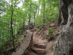 Cedar Falls Trail on Petit Jean Mountain---Morrilton, Arkansas