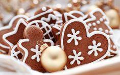 Beautiful Christmas Desktop Wallpapers, Vol. Christmas Gingerbread, Christmas Sweets, Christmas Baking, All Things Christmas, Gingerbread Cookies, Christmas Cookies, Christmas Time, Merry Christmas, Christmas Biscuits
