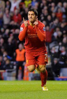 Luis Suarez scores again for @Liverpool FC against Wigan #LFC