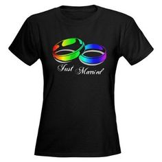 Just Married (Gay Rainbow Rings) Tee