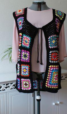 Flower power inspired crochet tunic vest granny by GlamCro