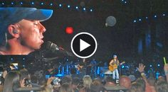 With the help of a loving and musically talented crowd, Kenny Chesney got through what appears to be one of his toughest moments on stage...