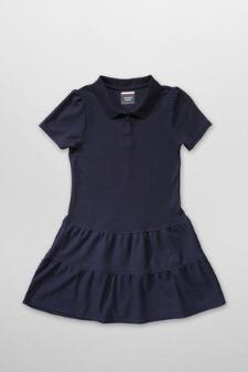 Ruffled Pique Polo Dress