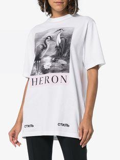 Shop Heron Preston heron print t-shirt from our T-shirts & Jerseys collection. Jersey Shirt, T Shirt, Heron, Street Wear, Short Sleeves, Mens Tops, Preston, Shopping, Style