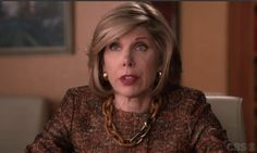The Good Wife - Deconstruction episode. #PONO Yachting Resin Choker. #madeinitaly #fashionjewelry #ChristineBaranski