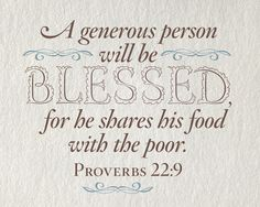 Explain these Biblical quotes about helping the poor?
