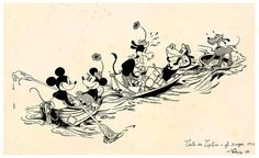 Printing a my digital drawing disney comic inspired the years Very nostalgic for fans of the genre. Nautical Home, Character Drawing, Cartoon Drawings, 1930s, Mickey Mouse, Cartoons, Comics, Disney Characters, Etsy