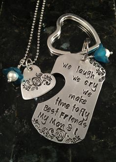Mother's Day keychain & necklace set  mother  by TheWagTaggery, $35.00