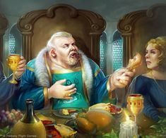 """Wyman Manderly. #GoT #HouseManderly #TheNorthRemembers """"When treating with liars, even an honest man must lie."""""""
