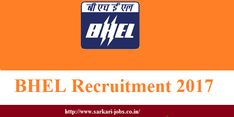BHEL Recruitment 2018 -Online Application Form has invited from the candidates for the post of Technician Apprentices, before last date.