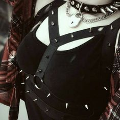 Caged O-Ring Spiked Bra Harness/ cage bra/ cage harness/ bondage/ fetish/ spiked/ spiked harness / goth lingerie