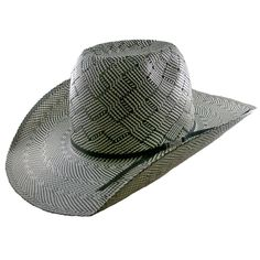98abf5ff450 American Hat Co 20☆ Patchwork Crossbred Vented Straw Hat - Black White